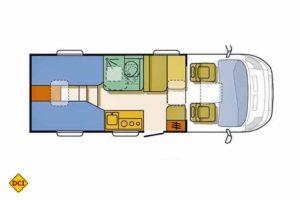 Grundriss Adria Compact SL. (Grafik: Werk)