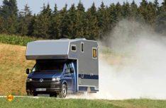 Der Bimobil LB 355 ist ein Festaufbau und basiert auf dem VW T6 als Pritschenwagen. (Foto: Bimobil)