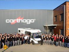 Carthago feiert die Produktion von 15.000 Reisemobilen im Werk Odranci. (Foto: Werk)