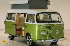 Ein echter Hingucker auf der Motorhome and Caravan Show 2015 in Birmingham: Der VW T2 Campingbulli von Danbury Motorcaravans. (Foto: Werk)