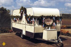 Der Hobby-Caravan Nummer 5.000 im Jahre 1972. (Foto: Werk)