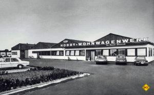 Das Hobby Wohnwagenwerk im Jahre 1974. (Foto: Werk)