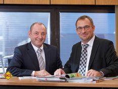 Michael Striewski (links) und Holger Schulz setzten als Hobby Geschäftsführer auf enge Zusammenarbeit. (Foto: Hobby)