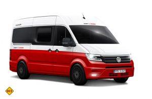 Auf dem brandneuen VW Crafter: Die farbenfrohe Studie Saint & Sinner von Knaus. (Foto: Werk)