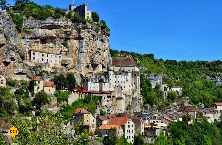 Die historische Stadt Rocamadour ist eine wichtige Etappe auf dem französischen Jakosweg nach Santiago de Compostela. (Foto: Limousin Tourismus)