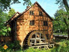 Polieren und Schwinden von Granit - die historische Wassermühle aus dem 18. Jahrhundert. (Foto: Schwerin Tourismus)