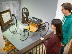 Nachbau des Benz-Patentmotorwagens von 1886. (Foto: Technoseum)