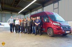 Das Westfalia-Team von Gotha. In der Mitte Geschäftsführer Mike Reuer, links aussen Philip Kahm. (Foto: Werk)