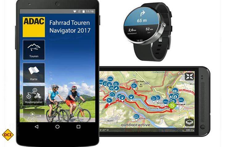 Für Wanderer und Radler hat der ADAC jetzt neue Apps für Android-Smartphones im Angebot. (Foto: ADAC)