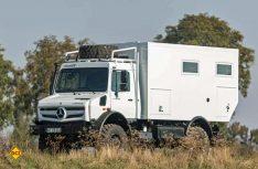 Der Bocklet Dakar basiert auf dem extrem allradtauglichen Mercedes-Benz Unimog U 4023. (Foto: Werk)