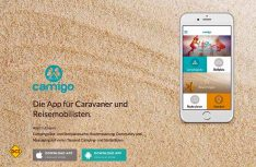 Die camigo-App für Smartphones und Tablets vernetzt Camper und findet Campingfreunde in der näheren Umgegend. (Foto: camigo)