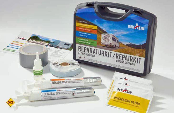 Für kleinere Reparaturen unterwegs hat Deka Kleben & Dichten das Reparaturkit entwickelt. (Foto: Werk)