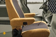 Aguti zeigt einen besonderen Klima-Schonbezug für Komfortsitze im Reisemobil. (Foto: Aguti)