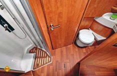 Dusche und Toilettenraum sind separat und können zu einem Raumbad vereinigt werden. (Foto: det)