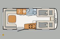 Grundriss Dethleffs Beduin 550 ER. (Grafik: Werk)
