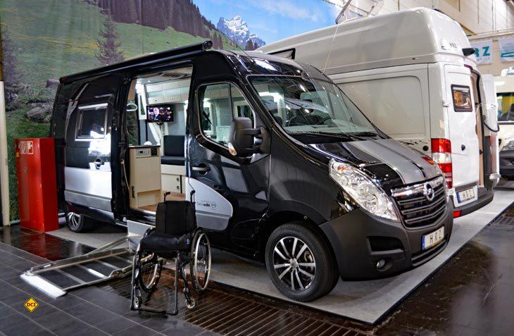Mit der Reha-Camper Baureihe bietet HRZ Reisemobile barrierefreie Reisemobile für Rollstuhlfahrer an. (Foto: det)