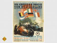 Deutschland - Auto - Motorsport - eine innige Verbindung. Hier dasPlakat zum Formel 1-Rennen 1951 auf dem Nürburgring. (Foto: Haus der Geschichte)