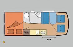 Grundriss Hobby Vantana K 65 T. (Grafik: Werk)