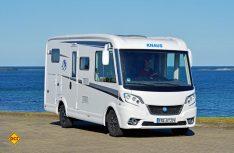 Mit dem Van I 550 MD stellt Knaus einen sehr kompakten Vollintegrierten als Alternative zu einem Kastenwagenmobil auf die Beine. (Foto: det)
