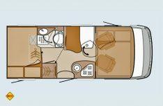 Grundriss Knaus Van I 550 MD. (Grafik: Werk)