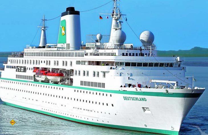 Die aus der Fernseh-Serie Traumschiff bekannte MS Deutschland passiert Pfingsten den Nord-Ostsse-Kanal. (Foto: Reederei)