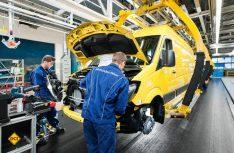 Heutige Sprinter-Produktion im Mercedes-Benz Werk Düsseldorf. (Foto: Mercedes-Benz)