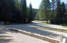 Der neu eröffnete Stellplatz im Durmitor-Nationalpark präsentiert sich in traumhafter Lage und mit allem Komfort. (Foto: Dr.TW)