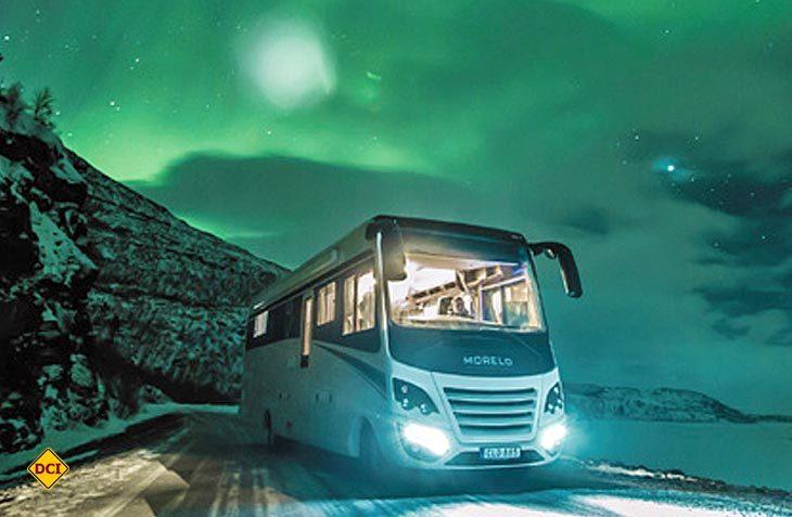 Kältekammer reicht nicht: Morelo testet seine Luxusmobil in der Praxis im schwedischen Winter. (Foto: Morelo)