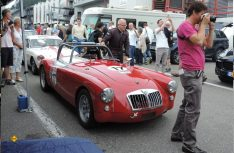 Englische Oldtimer MG A beim Qualifying des Classic Rennens in Spa-Francorchamps. (Foto Messe Düsseldorf)
