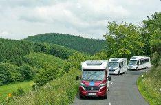 Der Weg ist das Ziel – Mit den Reisemobilen durch die Ardennen vom belgischen Spa-Francorchamps nach Luxembourg. (Foto Messe Düsseldorf)