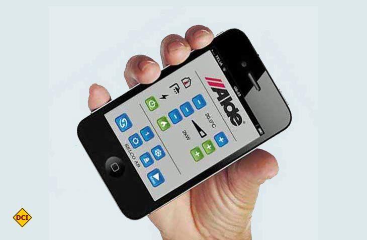 Mit der Alde App Start können Alde Heizungen per Smartphone und Tablet bedient werden. (Foto: Werk)