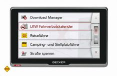 Das neue Flaggschiff der Becker Truck- und Camper-Navigationsgeräte: Das Becker transit.6sl EU plus. (Foto: Becker)
