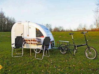Witziger Spass in Dänemark: Radurlaub mit dem Mini-Radcamper. (Foto: Werk)