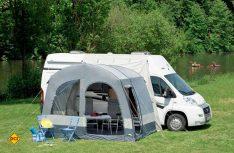 Das Reisemobil-Vorzelt easy-lunar-air von dwt-Zelte. (Foto: dwt-Zelte)