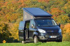praxis test reisemobil ford nugget mit aufstelldach. Black Bedroom Furniture Sets. Home Design Ideas