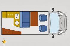 Der Grundriss des Ford Nugget. (Grafik: Werk)