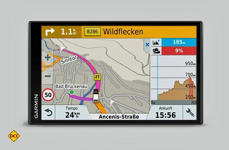 Das neue Camper-Navigationsgerät 770 LMT-D von Garmin bietet hilfreiche Navigations- und Sicherheitsfunktionen wie fahrzeugspezifischen Warnungen, Wlan und einem breiten Angebot an POIs. (Foto: Werk)