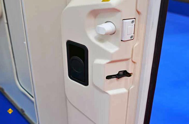 Heosolution bietet für Carado- und Sunlight-Wohnraumtüren ein Sicherheitspaket mit Zusatzschloss an. (Foto: det)