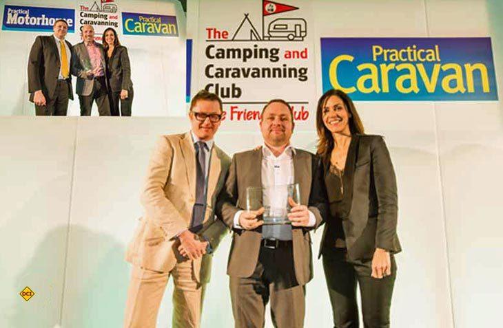 """Eriba und Hymer wurde auf der britischen Insel jeweils mit dem 1. Preis der werthaltigsten Gebrauchtmarken mit dem """"Owner Satisfaction Award"""" ausgezeichnet. (Foto: Hymer)"""