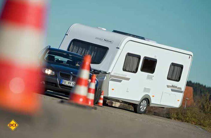 BranchBranchenprimus Hymer hat auch 2018 sehr erfolgreich Fahrsicherheitstrainings für Caravan-Gespanne und Wohnmobile angeboten. Letzter Termin 2018 ist Ende Oktober am Sachsenring. (Foto: Werk)