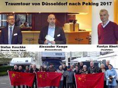Stefan Koschke (li.) Director Messe Düsseldorf, Alexander Kempe (mi.) Pressereferent unterstützen Tourleiter Kostya Abert bei der Präsentation (Foto: tom)