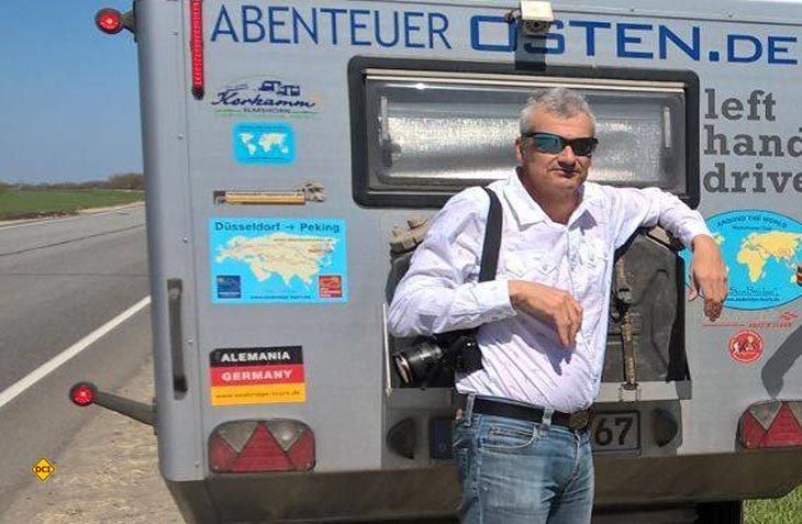 Traum-Tour nach Peking: Tour-Leiter Konstantin Abert feiert seinen 50. Geburtstag auf Tour in Russland. (Foto: Caravan Salon)