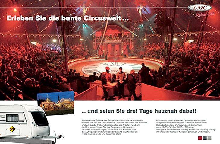 Mit LMC hat man die Chance, drei Tage hinter die Kulissen des Circus Roncalli zu schauen. (Foto: LMC)