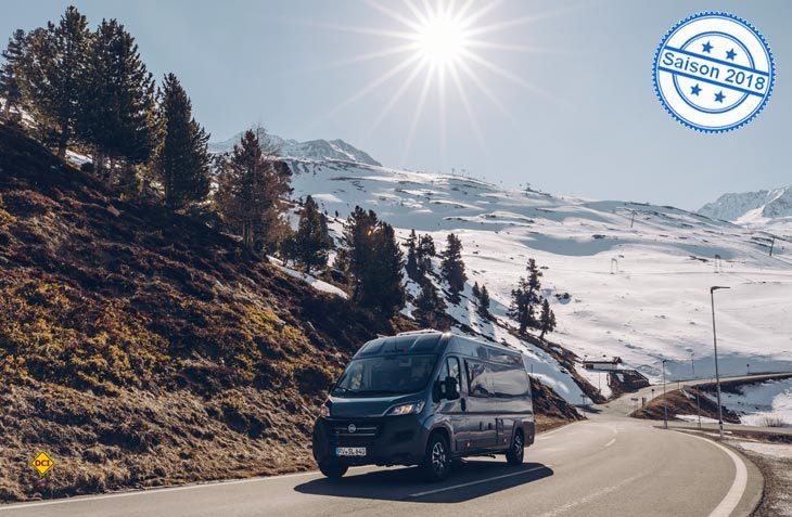 Mit vier Camper Vans startet Sunlight seine neue Kastenwagenbaureihe Cliff in der Saison 2018. (Foto: Sunlight)