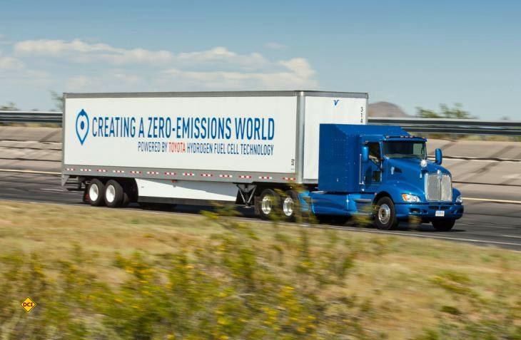 Toyota stellt einen schon seriennahen E-Truck mit Brennstoffzellen vor. (Foto: Toyota)