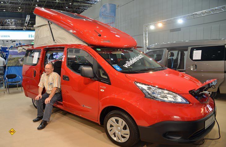 Zooom-Chef Thomas Hermman-Hueber konnte stolz als erster Hersteller ein vollelektrisches Wohnmobil vorstellen. (Foto: det)