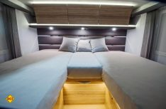 Luxus pur im Schlafbereich des neuen Adria Sonic. (Foto: Werk)