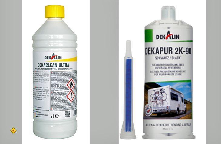 Für kleine Reparatur in Eigenleistung an Stoßstange oder Schürze des Mobils hält Dekalin die passenden Reiniger und Kleber bereit. (Foto: Werk=