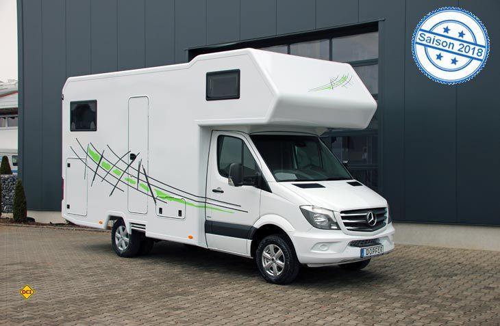 Zum 25. Firmenjubiläum bietet Dopfer Reisemobilbau eine 25 Jahre Edition mit besonderer Ausstattung. (Foto: Werk)