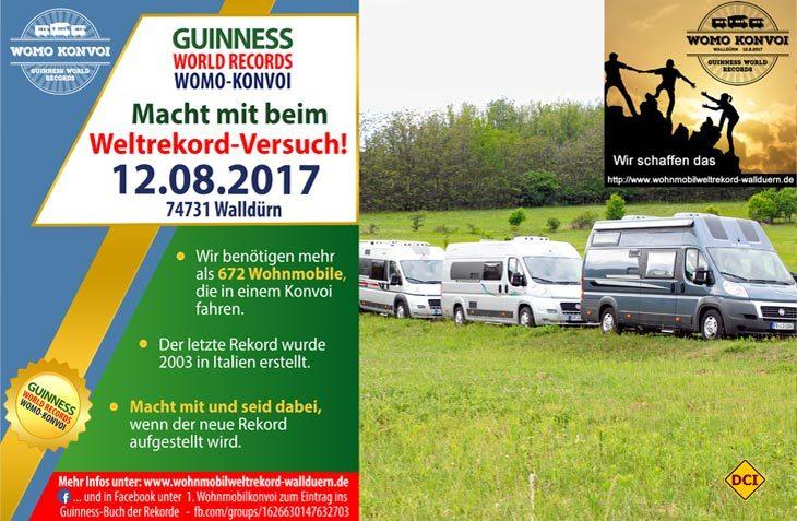 Am 12. August geht´s nach Walldürn: Der Womo-Konvoi-Rekord soll fallen. (Foto: DCI-Montage)